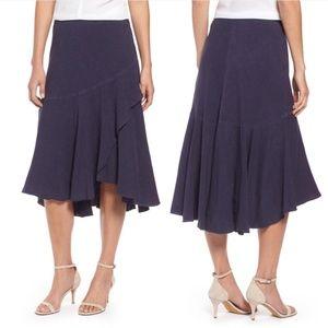 NIC + ZOE Homebound Skirt In Blueprint